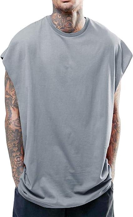 Zackate - Camiseta sin Mangas para Hombre, Color sólido ...