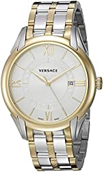 Versace Men's 'APOLLO' Swiss Quartz Stainless Steel Casual Watch, Color:Two Tone (Model: V10070015)