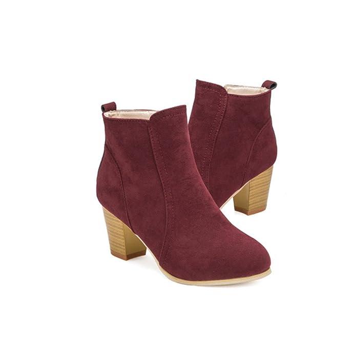 Amazon.com | LandFox Shoes, Autumn Winter Boots Women Ankle High Heels Shoes Martin Boots | Boots