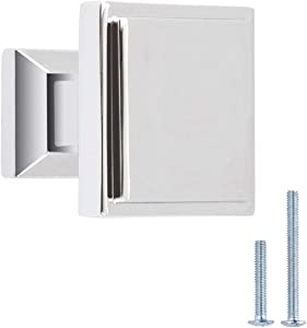 Austin & Mills AM-CH101, Chrome, Square Cabinet Knob, 5-Pack