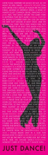 Just Dance Inspirational Quote Poster Print