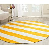 Safavieh Montauk Collection MTK712A Handmade Flatweave Yellow and Ivory...