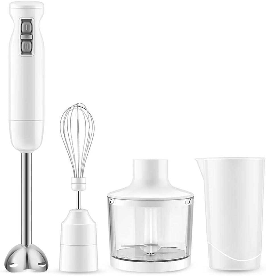 HLLZRY Handheld Immersion Blender, 4-in-1 Electric Blender Stick, Stainless Steel Whisk, Includes 700ml Mixing Beaker 500ml Food Chopper, Detachable Multi-Purpose