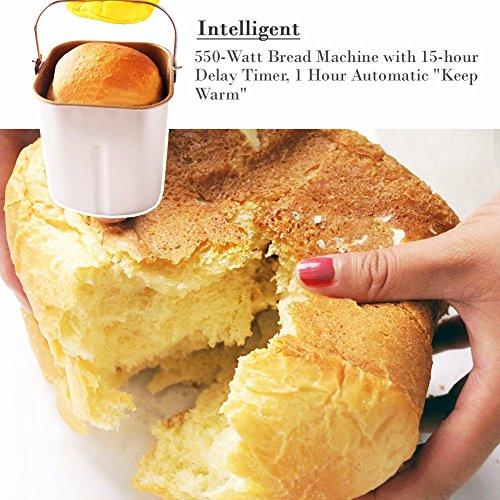 SKG Automatic Bread Machine 2LB - Beginner Friendly Programmable Bread Maker by SKG (Image #6)'