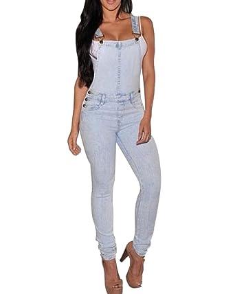 Kasen Mujer Petos Vaqueros Overalls Denim Jeans Elásticos Vaqueros Pantalones