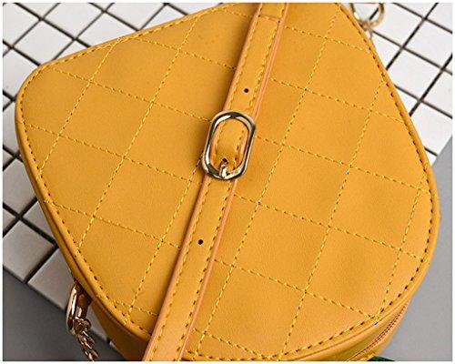 Asa Hombro Forma Circular yellow Parte Mujer Accesorios Monedero Wlwwy Cruzado La Superior De Bolsas Piña Del White Bolso tq78tFB6xw