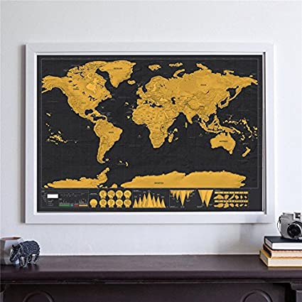 Buy lepakshi deluxe world map personalized national flag black gold lepakshi deluxe world map personalized national flag black gold scratch map off foil layer coating poster gumiabroncs Choice Image