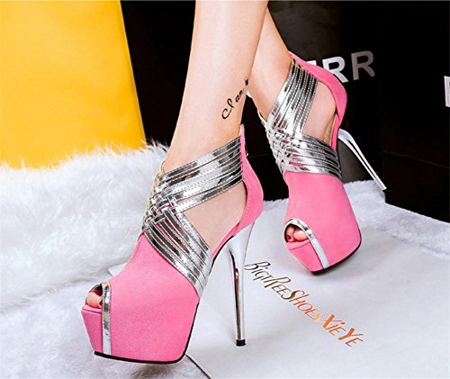 Festa Donna Discoteca Tacco Vestito L Sexy Nero piattaforma Scarpe cinghie UK Stiletto 35 XIE scamosciato EUR Attraversare alto sandali 3 OxnqBYn5Z6