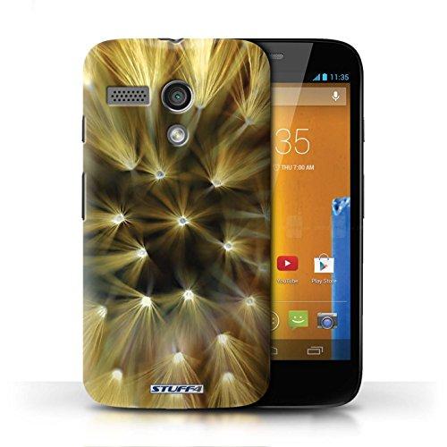 Etui / Coque pour Motorola MOTO G (2013) / Jaune conception / Collection de Couleur/Lumière Fleur