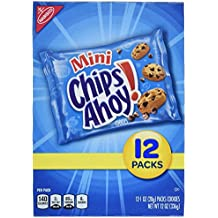 Chips Ahoy! Mini Chocolate Chip Cookie Snack Packs, 12 Count Box (Pack of 2)
