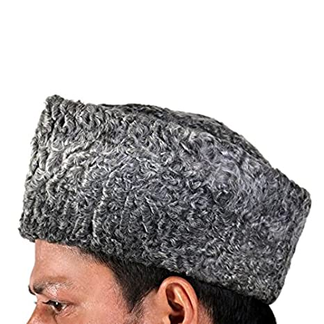 KARAKUL JINNAH Persian Lamb broadtail Kufi Fur Sheep HAT Russian Cap  (Beige)  Amazon.co.uk  Clothing 30dc6d6aa75
