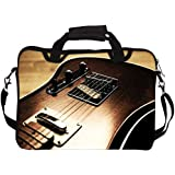 "Snoogg Rock Guitar Laptop Netbook Computer Tablet PC Shoulder Case Carrying Sleeve Bag Holder For Apple iPad/ Hp Touchpad Mini 210/Acer Aspire One And Most 9.7"" 10"" 10.1"" 10.2"" Inch Netbook Tablet PC"