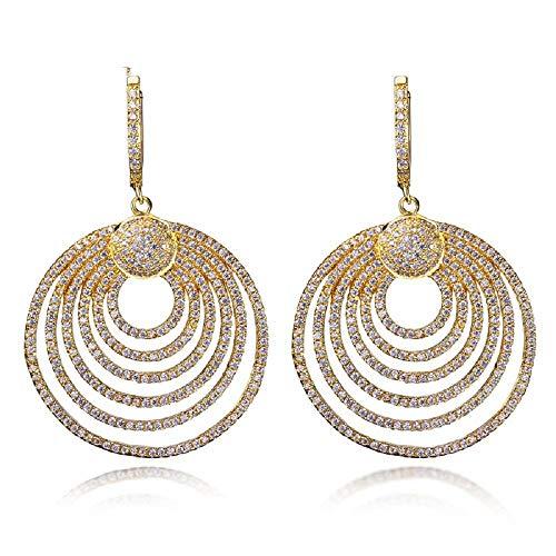 QMM earring Pendant earrings sGrand Luxury Wedding Earrings Party Pave Setting Cz Handmade Dangle Earrings for Women Jewelry Girl Accessories Unique Party,B