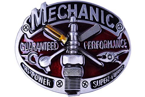 Belt Buckle Professional Mechanic Guaranteen Performance accessories (Custom Pewter Belt Buckles)