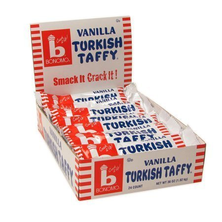 Bonomo Turkish Taffy Bar (Bonomo Turkish Taffy VANILLA: 24 Count)
