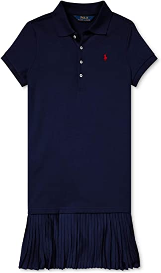 XL Navy 12 Essentials Big Girls Short-Sleeve Polo Dress