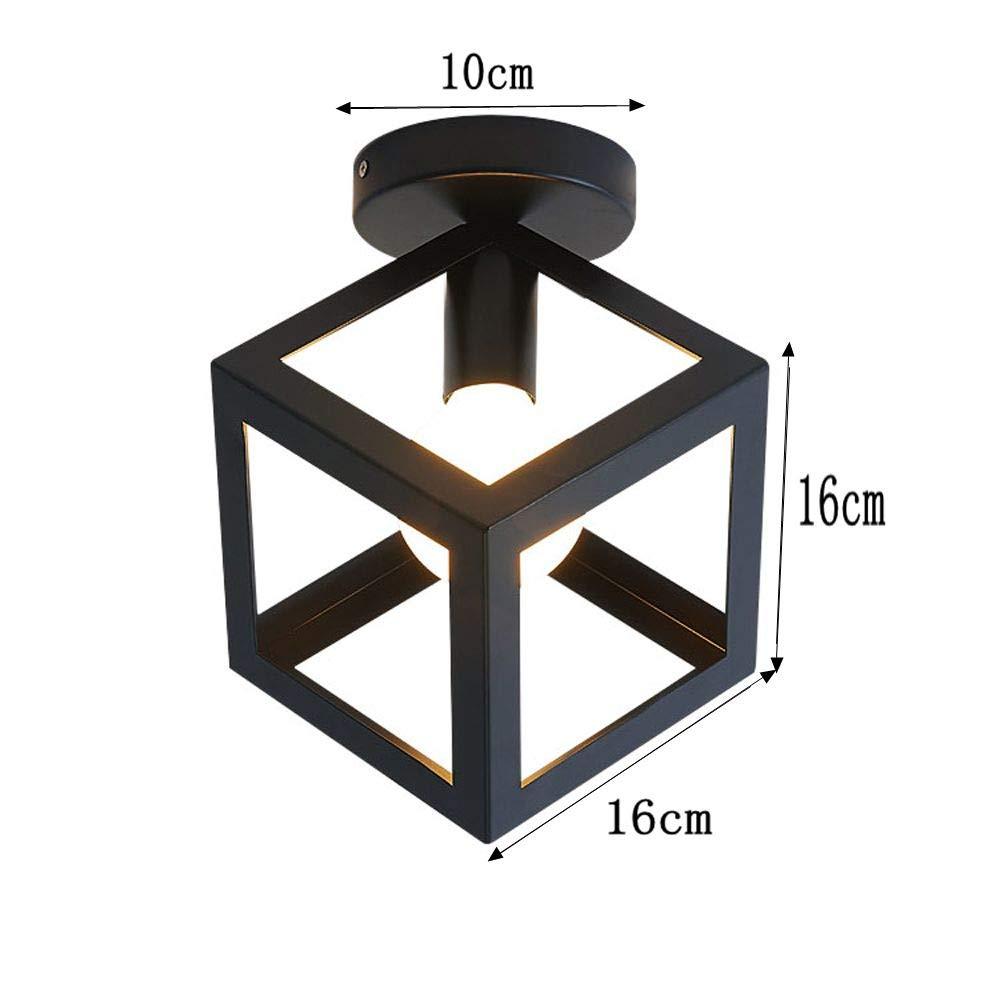 Plafonnier Industrielle R/étro en M/étal G/éom/étrie Cage R/étro Industrielle Lustre Suspension Luminaire L/éclairage pour Salon Chambre Caf/é Bar Blanc