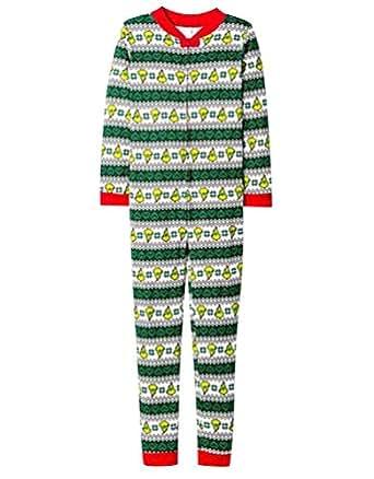 isshe pijamas de navidad familia adultos pijama de una pieza familiares manga larga hombre mujer. Black Bedroom Furniture Sets. Home Design Ideas