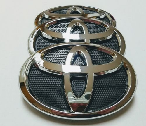 NEW 2007 2008 2009 FITS TOYOTA CAMRY FRONT GRILL EMBLEM BLACK&CHROME 75311-06060