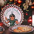 Memory Company NCAA Michigan State University Santa Ceramic Cookie Plate, One Size, Multicolor
