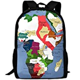 ZQBAAD The History Of Africa Luxury Print Men And Women's Travel Knapsack