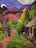 Gauguin Paul Road in Tahiti 100% Hand Painted Oil Paintings Reproductions 12X16 Inch