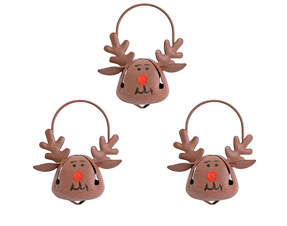 12 Rudolph Reindeer Jingle Bell Christmas Tree Decorations Crafty Capers