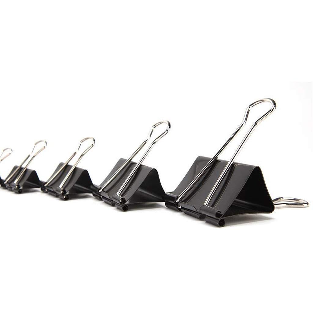 80 LQQGXL Foldback Clip Metal Bulldog clamp Clip Clamps The Folded Paper Clip 19mm Black Binder