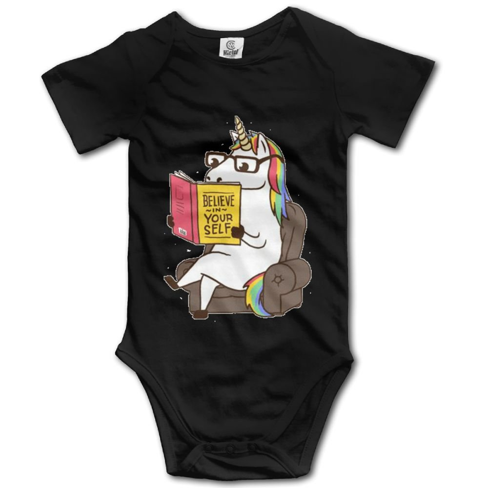 Rainbowhug Art Unicorn Unisex Baby Onesie Cartoon Newborn Clothes Concise Baby Outfits Comfortable Baby Clothes