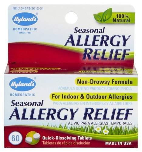 Hylands Homeopathic Combination Seasonal Allergy Relief - 60 Ea by Hyland's Homeopathic