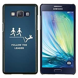 TECHCASE---Cubierta de la caja de protección para la piel dura ** Samsung Galaxy A5 ( A5000 ) 2014 Version ** --Follow The Leader divertido