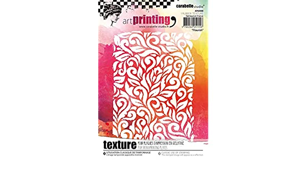 Carabelle Studio AP60029 Art Printing A6 Rubber Texture Plate-Flowers /& Leaves