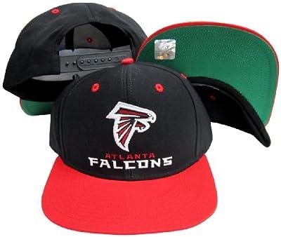 Reebok Atlanta Falcons Word Black/Red Two Tone Plastic Snapback Adjustable Plastic Snap Back Hat/Cap