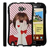 Ecoskin Samsung Galaxy Note 1 Case [Guardian Series 03] Enakei Girl Illustration Design Streamlined Shock Absorbent TPU Case with 9H Hardness Screen Protector N7000 i9220 i717 (Jessica) [Retail Packaging] [Made in Korea]