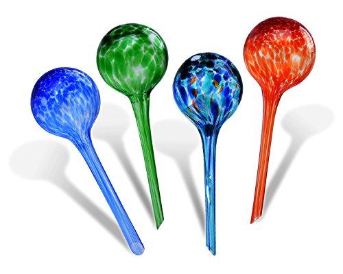 Watering Globes,Fascigirl 4 pack Plant Automatic Watering Bulbs Glass Aqua Globes