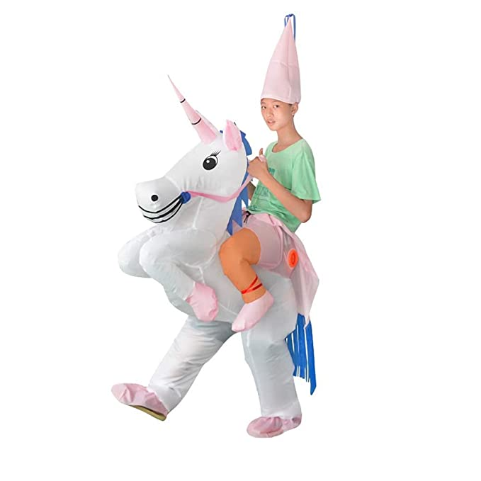 Amazon.com: Disfraz de unicornio inflable para niños de ...