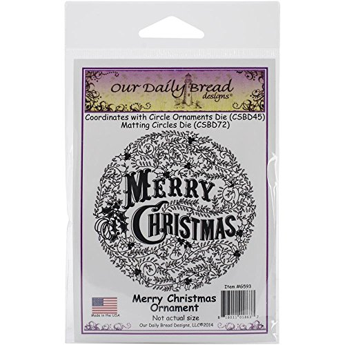 Merry Christmas Ornament Cling Stamp Holiday Craft Art - Our Daily Bread Dies