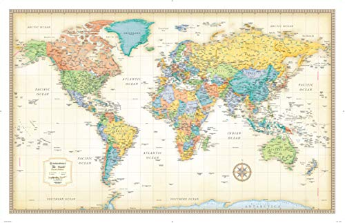 Rand Mcnally Map - Rand McNally Classic World Wall Map