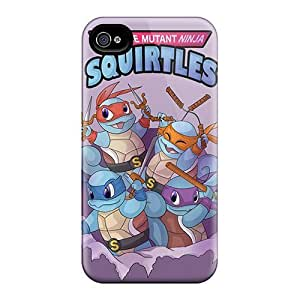 Hot Tpu Cover Case for iphone/ 4/4s Case Cover Skin - Teenage Mutant Ninja Squirtles
