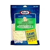 Kraft Zip Pak Shredded Mozzarella Cheese, 8 Ounce - 12 per case.