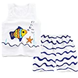 4 person ice shack - FTSUCQ Girls/Boys Cartoon Sleeveless Tanks Top + Shorts + 3PCS Floral Handkies,Blue 75