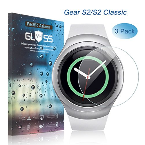 Tempered Glass Screen Protector for Samsung Gear S2 Smart Watch - 5