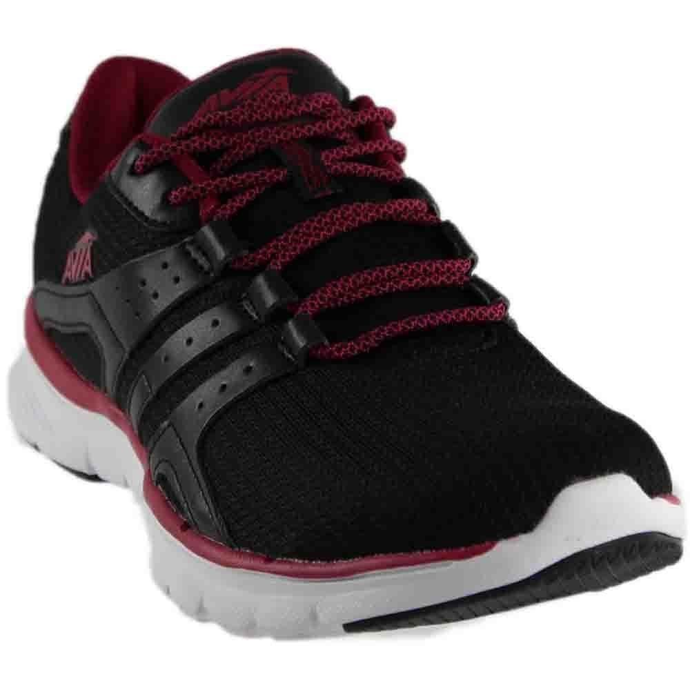 Avia Women's Avi-Mania Track Shoe, Black/Iron Grey/Ruby Pink, 8.5 M US