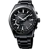 Mens Seiko Astron GPS Solar World Time Black Titanium Watch SSE089