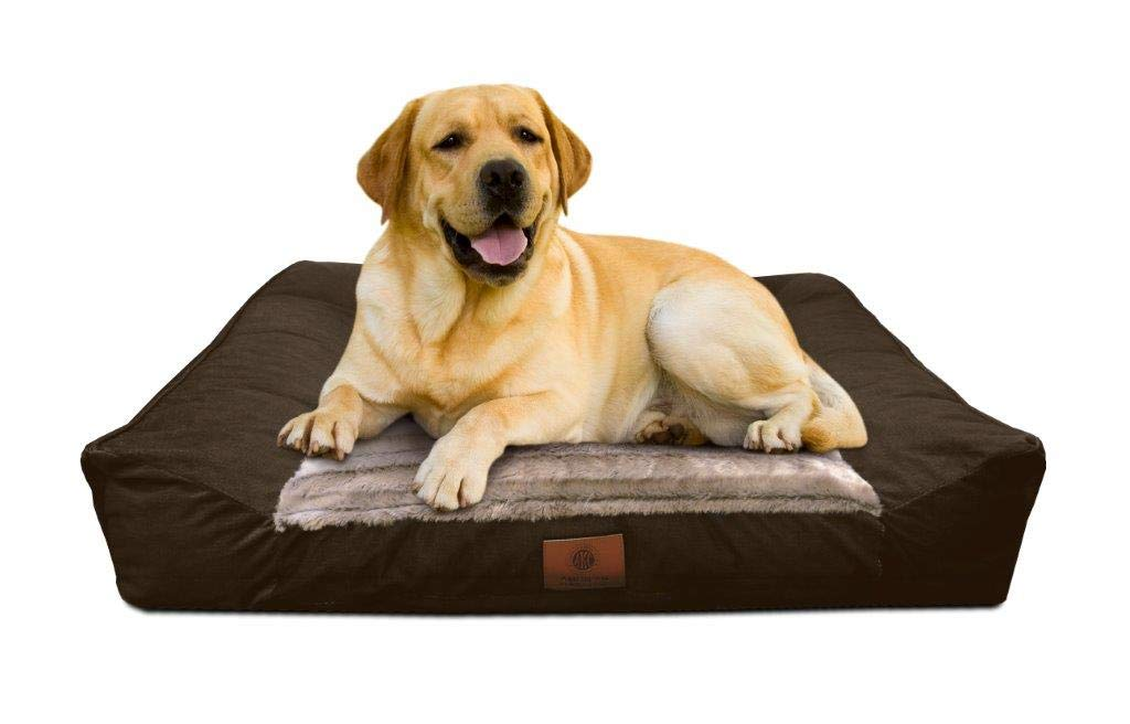 American Kennel Club AKC1885CHOCOLATE Memory Foam Sofa Pet Bed Chocolate Dog Sofa Bed