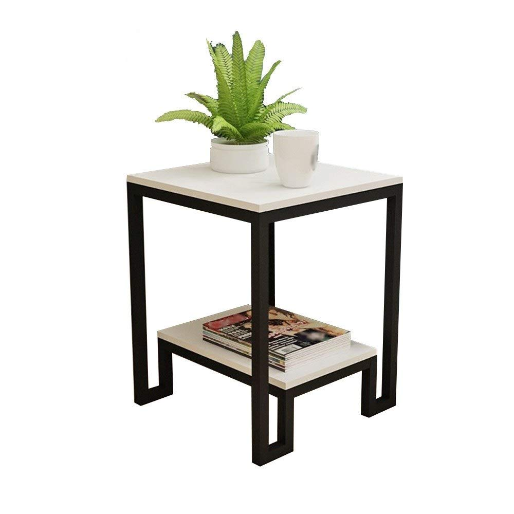 LJHA bianzhuo End Table, with Drawers 2nd Floor Storage Nightstands Bedroom Night Stand, for Living Room Study Hotel Restaurant Office, 2 Optional Bedside Tables (Color : B#White) by GYH End Table