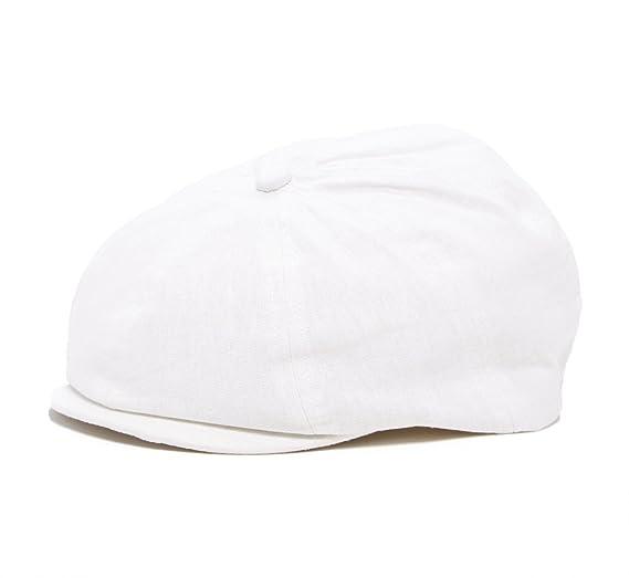 761192acd5d Amazon.com  Born to Love - White Newsboy Newborn and Baby Ivy Hat ...