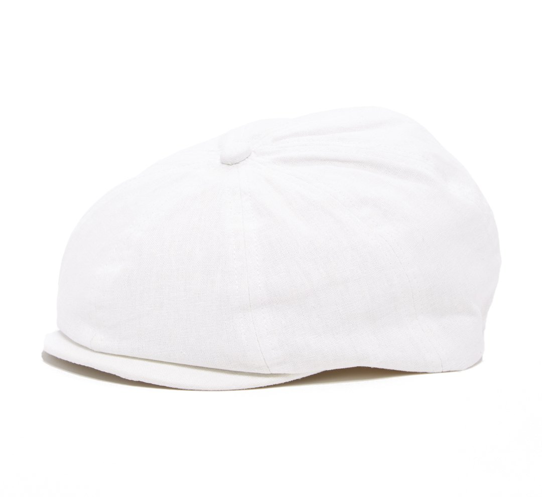 Born to Love White Newsboy Baby Cap,Baby Ivy Cap, Newborn Driver Cap (XXS(6-12 Months))