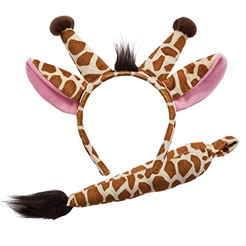 Wicked Giraffe Ears & Tail Animal Fancy Dress