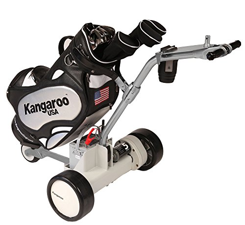 Kangaroo Model 5 Electric Golf Cart with Hands-On Steering (Light Gray color)